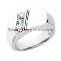 14K Gold Men's Diamond Ring 0.45ct