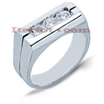 14K Gold Men's Diamond Ring 0.75ct