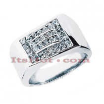 14K Gold Men's Diamond Ring 0.98ct