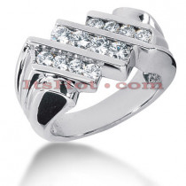 14K Gold Men's Diamond Ring 1.04ct