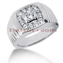 14K Gold Men's Diamond Ring 1.34ct