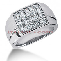 14K Gold Mens Diamond Ring 1ct