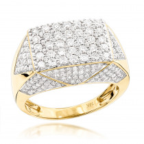 14K Gold Mens Diamond Ring 2.75ct Pinky Ring