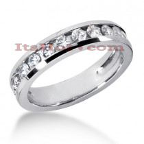 14K Gold Men's Diamond Wedding Band 0.90ct