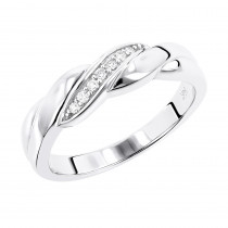 14K Gold Mens Diamond Wedding Ring 0.11ct