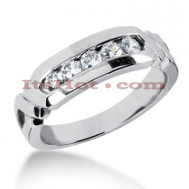 14K Gold Men's Diamond Wedding Ring 0.25ct