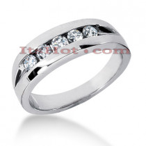 14K Gold Men's Diamond Wedding Ring 0.40ct