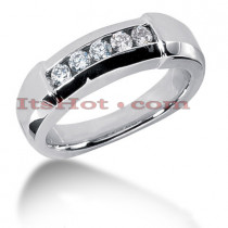 14K Gold Men's Diamond Wedding Ring 0.45ct