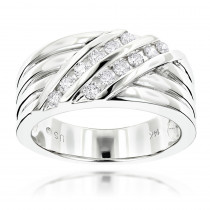 14K Gold Men's Diamond Wedding Ring 0.48ct