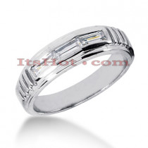 14K Gold Men's Diamond Wedding Ring 0.54ct