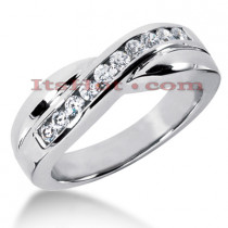 14K Gold Men's Diamond Wedding Ring 0.55ct