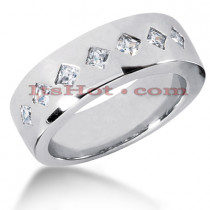 14K Gold Men's Diamond Wedding Ring 0.70ct