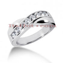 14K Gold Men's Diamond Wedding Ring 0.77ct
