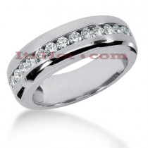 14K Gold Men's Diamond Wedding Ring 0.98ct