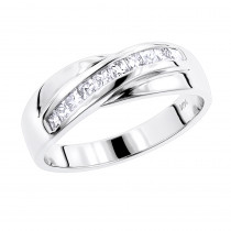 14K Gold Men's Diamond Wedding Ring 1ct