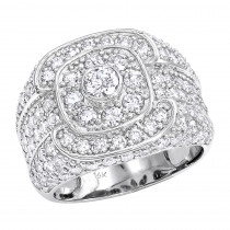 14K Gold Mens Pave Round Diamond Ring 5.88ct