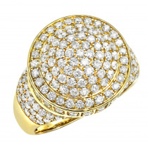 14k Gold Mens Pinky Rings Luxurman 3.5 Carat Hip Hop Diamond Ring