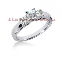 14K Gold Preset Diamond Engagement Ring 0.90ct