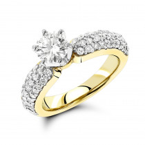 14K Gold Preset Diamond Engagement Ring 1.10ct