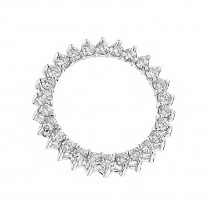 14K Gold Round Diamond Circle of Love Pendant 1 carat