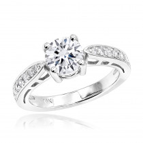 14K Gold Round Diamond Engagement Ring 1.25ctw