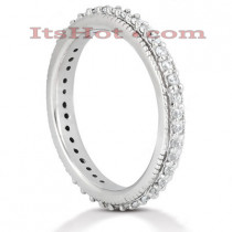 Thin 14K Gold Round Diamond Eternity Band 0.38ct