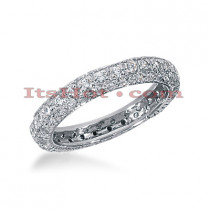 14K Gold Round Diamond Eternity Band 0.90ct