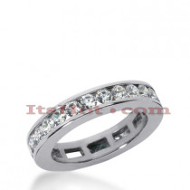 14K Gold Round Diamond Eternity Band 1.20ct