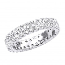 14K Gold Round Diamond Eternity Band 1.74ct