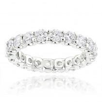 Thin 14K Gold Round Diamond Eternity Band 2.10ct