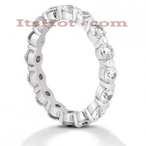 Thin 14K Gold Round Diamond Eternity Band 2.40ct