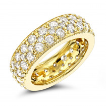 14K Gold Round Diamond Eternity Band 2.64ct