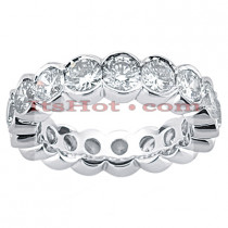 14K Gold Round Diamond Eternity Band 3.40ct