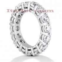 Thin 14K Gold Round Diamond Eternity Band 5.60ct