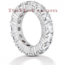 14K Gold Round Diamond Eternity Band 5.60ct