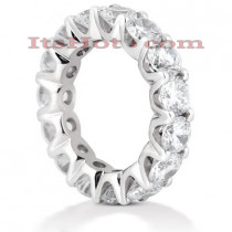 14K Gold Round Diamond Eternity Band 6.75ct