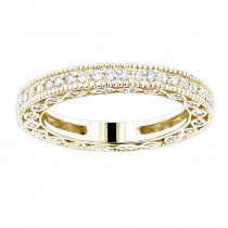 Thin 14K Gold Round Diamond Eternity Ring 0.63ct