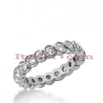 14K Gold Round Diamond Eternity Ring 0.75ct