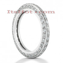 Thin 14K Gold Round Diamond Eternity Ring 1.01ct