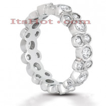 14K Gold Round Diamond Eternity Ring 1.44ct