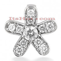 14K Gold Round Diamond Flower Pendant 0.55ct