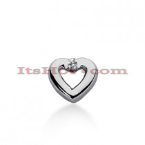 14k Gold Round Diamond Heart Necklace 0.07ct