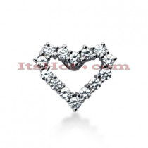 14k Gold Round Diamond Heart Pendant 1.26ct