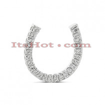 14K Gold Round Diamond Horseshoe Pendant 0.36ct
