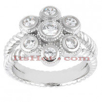 14K Gold Round Diamond Ladies Ring 0.25ct