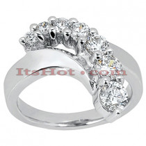 14K Gold Round Diamond Ladies Ring 0.50ct