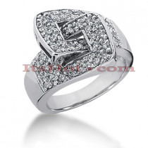 14K Gold Round Diamond Ladies Ring 0.64ct