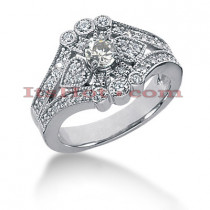 14K Gold Round Diamond Ladies Ring 0.75ct