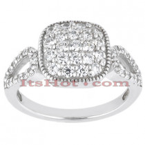 14K Gold Round Diamond Ladies Ring 0.81ct