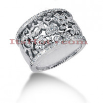 14K Gold Round Diamond Ladies Ring 0.85ct
